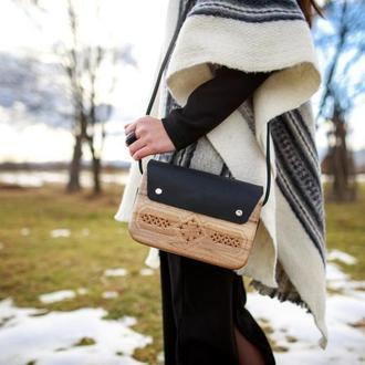 """Деревянная сумка """"Вориння"""""""