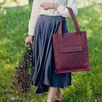 """Кожаная сумка-шопер """"Изабель"""""""