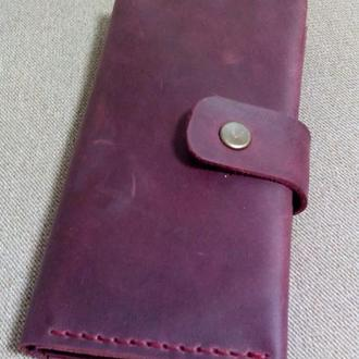 Жіночий гаманець з кишенею на замку