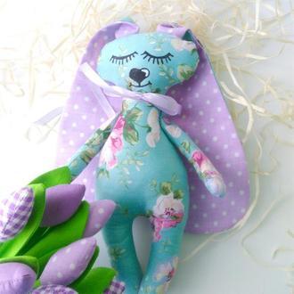Зайчик-сплюшка фіолетові вушка
