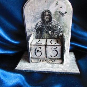 """Вечный календарь """"Зима близко"""" по мотивам сериала """"Игра престолов"""" (Game of Thrones)"""