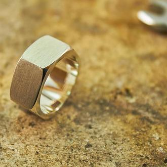 Серебряное кольцо Гайка