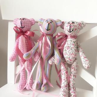 Ведмедик подарунок мягкая игрушка тильда мишка оригинальный подарок дочке девушке