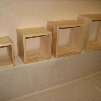 Настенные деревянные полочки  Матрешка 4 шт