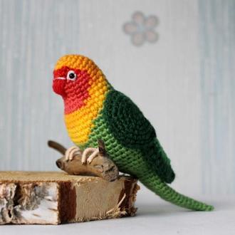 Подарок на 8 марта, Попугайчик неразлучники, Игрушка попугай, Пасхальная птичка