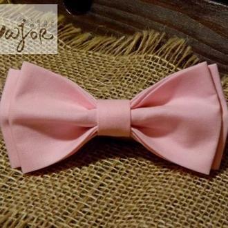 Бабочка розового цвета однотонная Классик2