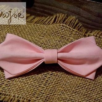 Бабочка розового цвета однотонная Ретро