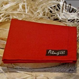 Нагрудный платок Паше красного цвета однотонный