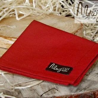 Нагрудный платок Паше бордового цвета однотонный