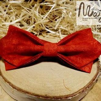 Красная галстук-бабочка с принтом веточки Retro