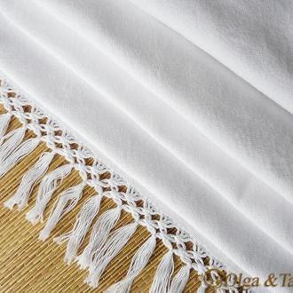 Заготовка для рушника домотканое рушниковое полотно с бахромой