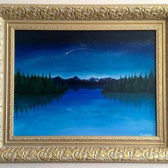 Ночное небо / Ночное озеро / Горный пейзаж / Лесной пейзаж / Sky full of stars / Lake view / Night