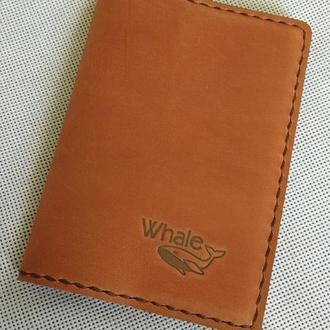 Кожаный чехол на паспорт, другие документы, блокнот.