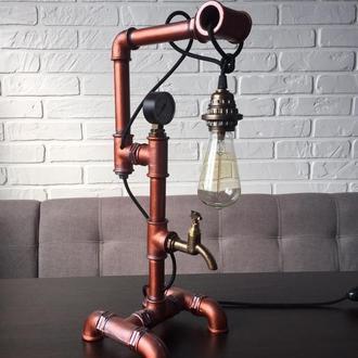 Настольная лампа с стиле loft