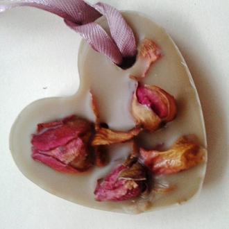 Флорентийское восковое саше Розовое сердце