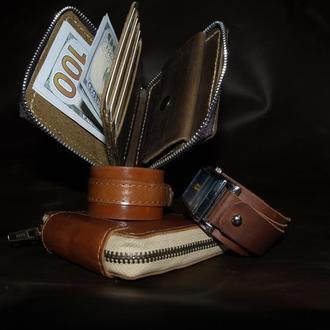 Компактный и стильный кожаный кошелек