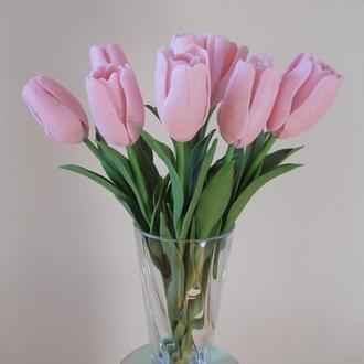 Букет тюльпанов из холодного фарфора