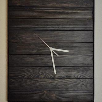 Часы в стиле Лофт. Натуральное дерево. Металл.