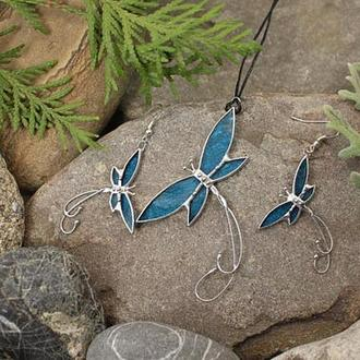 Комплект украшений Бабочки Подарок девушке