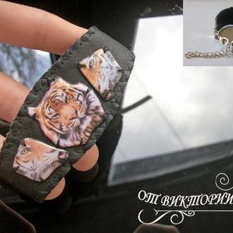 Браслет с тигром, мужской или женский