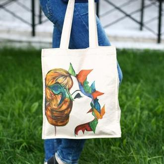 "Эко сумка с авторским рисунком ""Грета"""