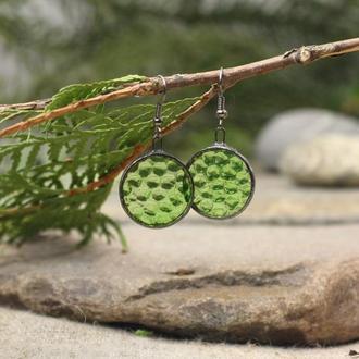 Серьги зеленые Подарок девушке