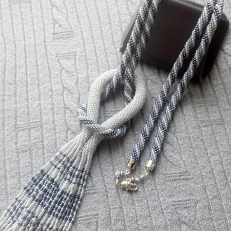Сотуар - жгут с бисерной кисточкой