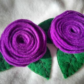 Заколка «Фіолетова квіточка»