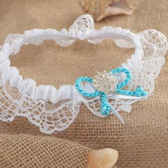 Подвязка невесты в морском стиле