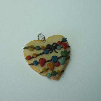 Сердце-печенька