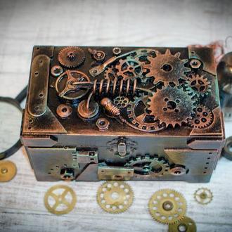 Авторская шкатулка-купюрница ′The Copper Lord′