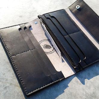 Кожаное Портмоне Ручной Работы / Кошелек / Гаманець / Long Leather Wallet