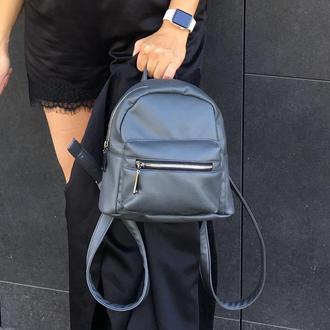 28828e11d163 Супермини рюкзак из экокожи серый матовый