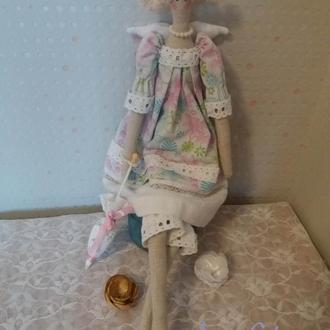 Тильда - ангел с зонтом.