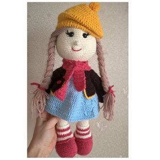 Кукла тильда в технике амигуруми