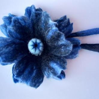 #Цветок_мака, #брошь ,выполнен в технике #сухое_валяние