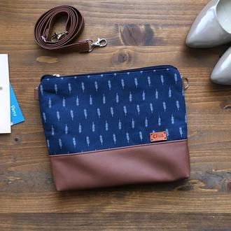 Сумка Перья, стильная комфортная сумка на каждый день