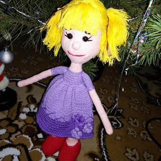 Лялька в'язана гачком, Кукла вязана, Куколка крючком