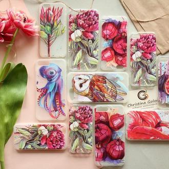 Чехлы на iPhone   с авторскими иллюстрациями