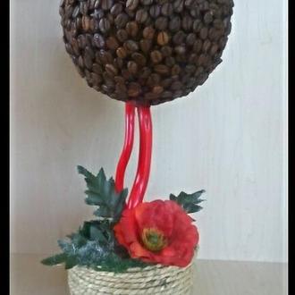 Топиарий.Кофейное дерево. Дерево счастья