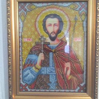 Иконы святых вышиты бисером на заказ / Ікони святих вишиті бісеромм на замовлення