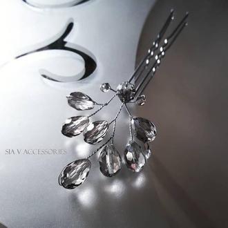Хрустальная шпилька из чешского стекла