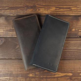 Большой кожаный кошелёк, портмоне 1.0