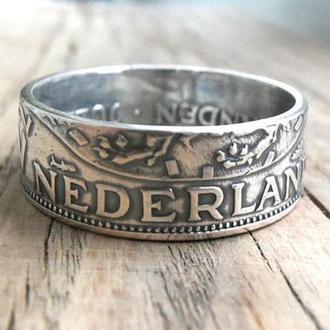 Кольцо из монеты 2 1/2 гульдена Нидерланды Серебро