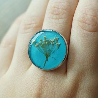 Круглое кольцо с тысячелистником