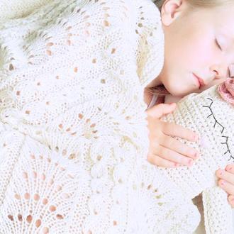 Детский плед Сладкие сны...из мериносовой шерсти