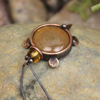 Кулон черепашка чайная Подарок девушке
