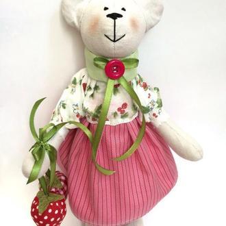 """Мишка """"Вкус лета"""" ведмедик іграшка тильда подарок игрушка оригинал свято"""