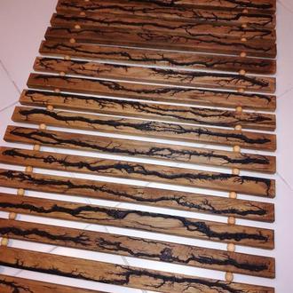 Дерев'яний коврик для ванної кімнати, душової чи сауни