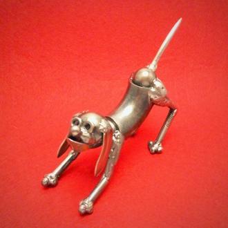Собачка, металл, техно арт